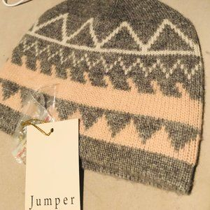 Jumper 1234 100% Cashmere Beanie - Grey and Pink